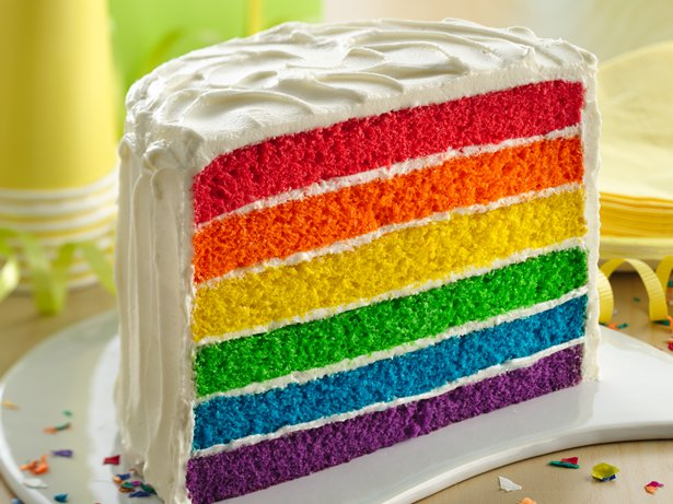 Rainbow Layer Cake ~ Best food in Sydney