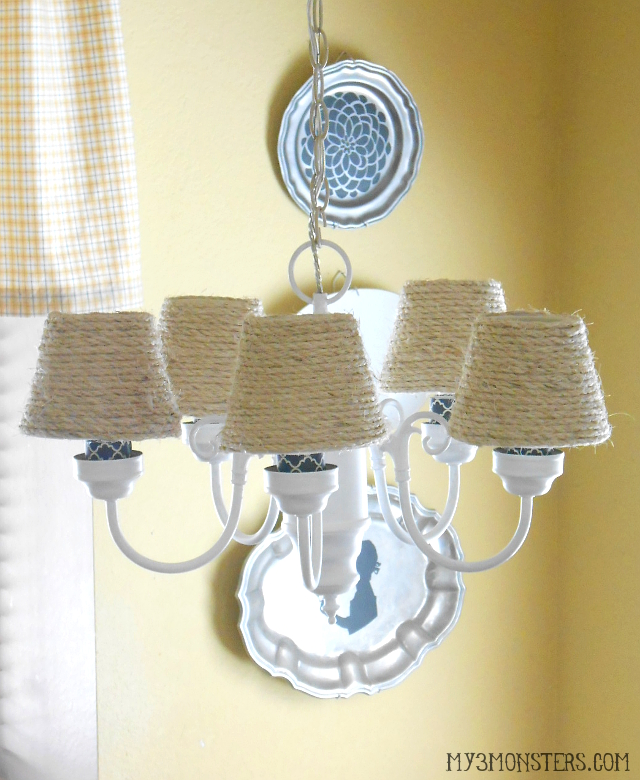 My 3 monsters diy chandelier makeover diy chandelier makeover mozeypictures Images