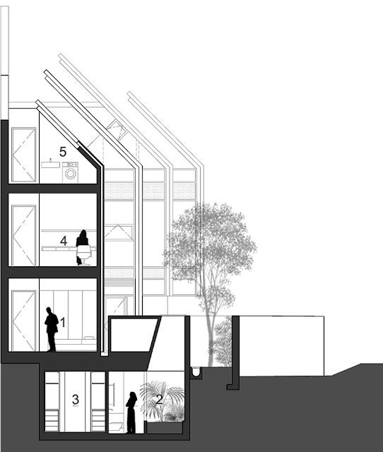 Armadillo house formwerks architects singapore for Piani di casa ranch unici
