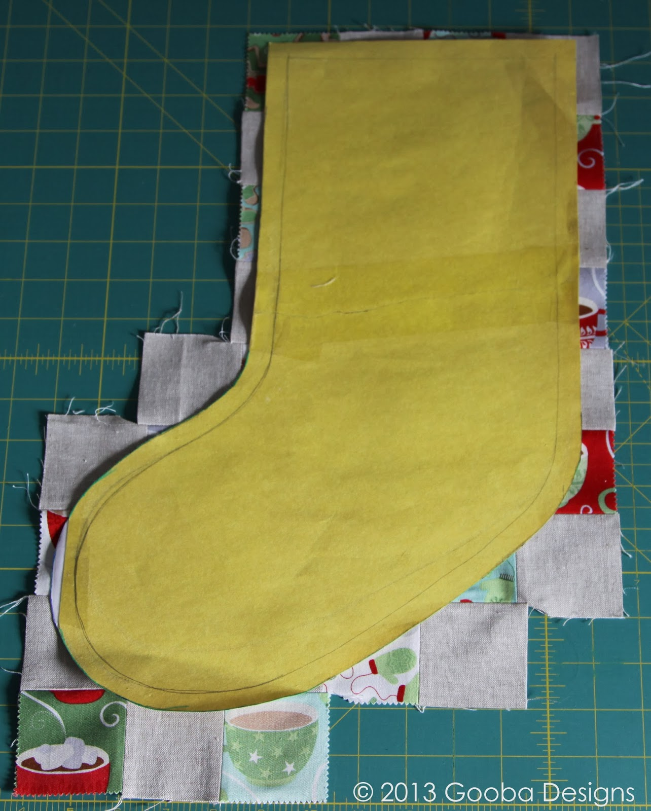 gooba designs quilted patchwork stocking with cuff tutorial
