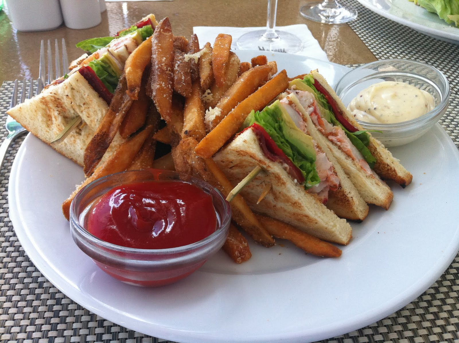 ... club sandwich lobster club sandwich at hubbell hudson kitchen lobster