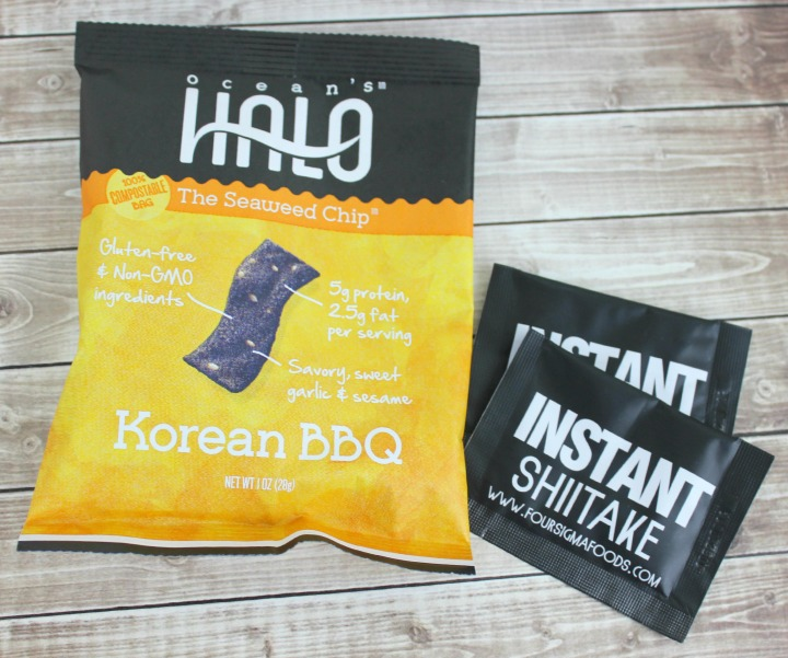 Ocean's Halo Korean BBQ Seaweed Chips Four Sigma Foods Instant Shiitake
