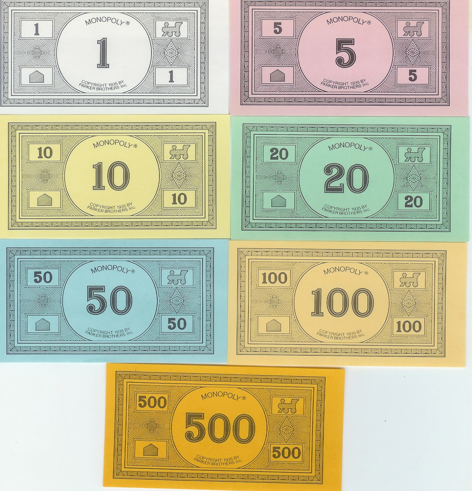 Inventive image with playing money printable