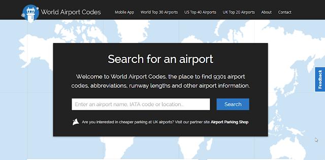 קודים של 3 אותיות- שדות תעופה בעולם
