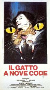 Poster italiano de El gato de las nueve colas