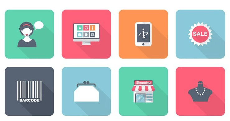 Free Flat Shopping Icons(PSD,AI,EPS)