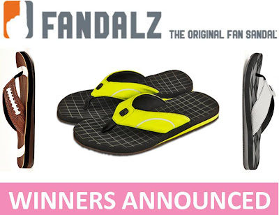 Fandalz Fan Sandal Giveaway Winners Announced