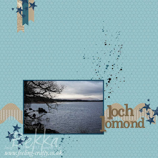 Loch Lomond Views - My first Scrapbook Page using My Digitial Studion - Get Your Free  MDS Trial at www.bekka.stampinup.net
