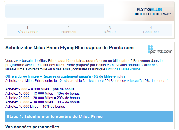 Flying Blue Miles Bonus Air France KLM