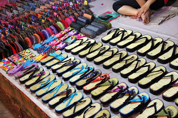 Shopping at the night market of Luang Prabang