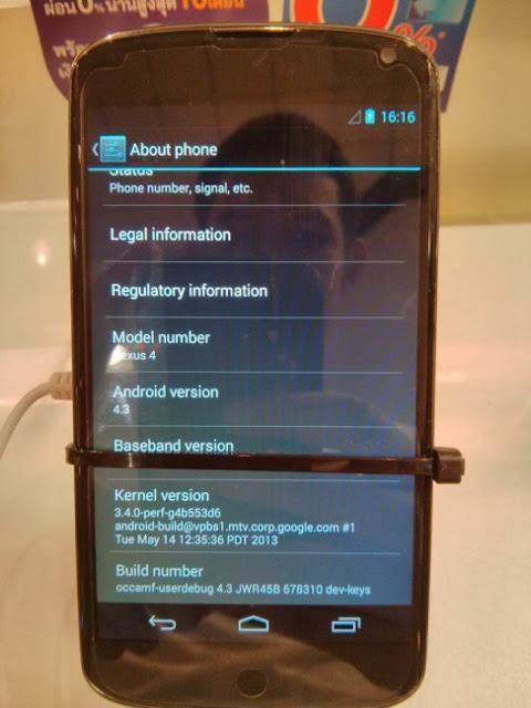 Nexus 4 running Android 4.3