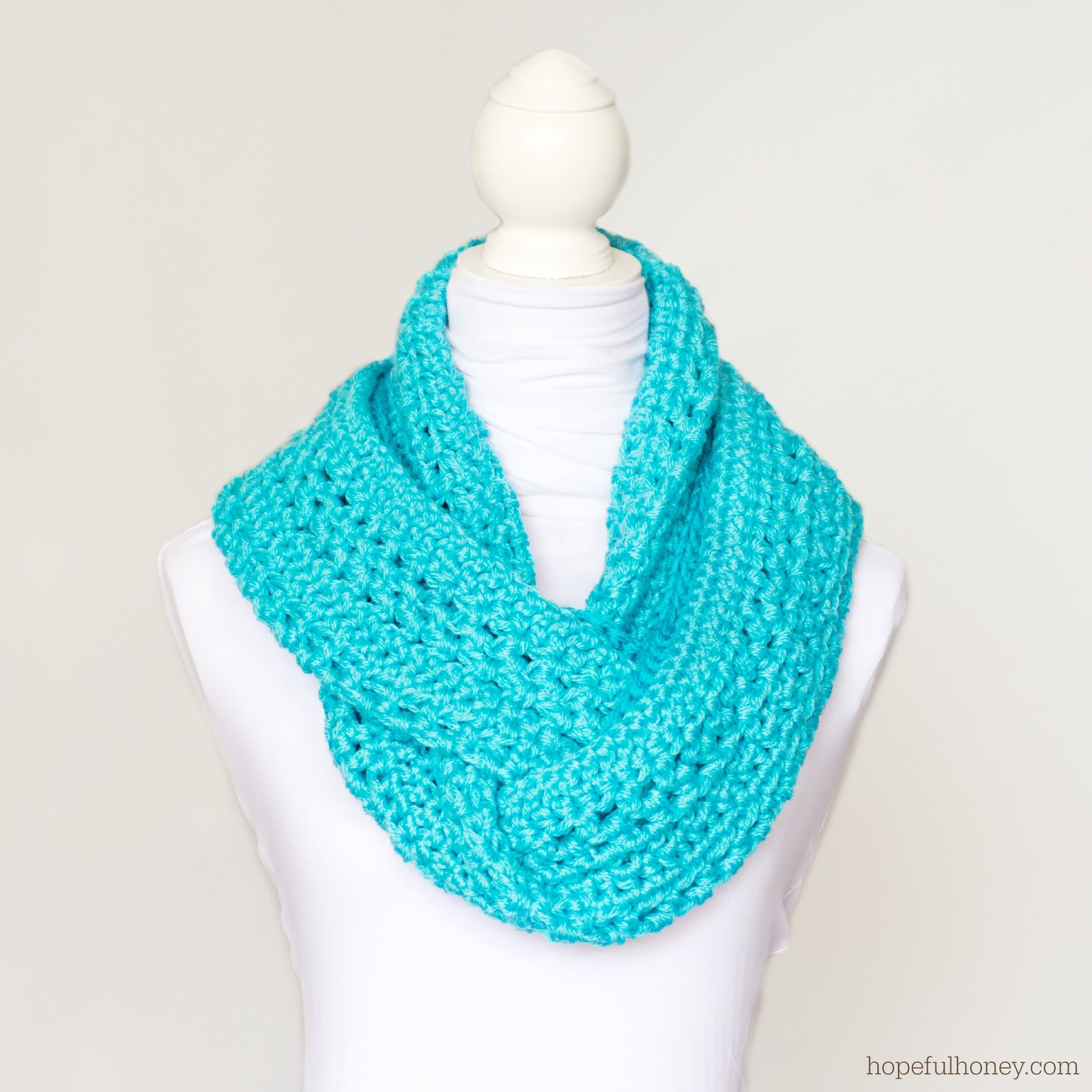 ... Honey Craft, Crochet, Create: Basic Circle Scarf Crochet Pattern