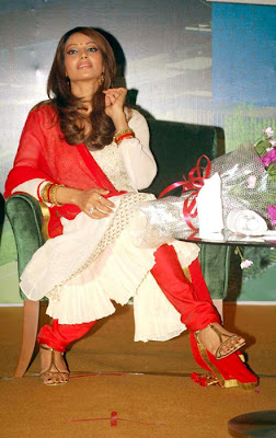 Bipasha Basu Cute in White Chudithar Stills