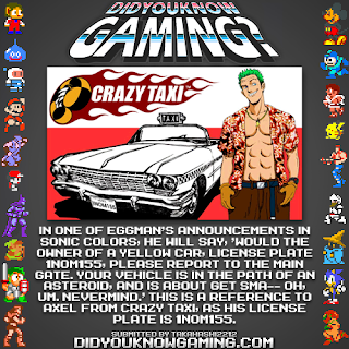 sonic colors crazy taxi fact Random Game Facts   Sonic Colors Meets Crazy Taxi