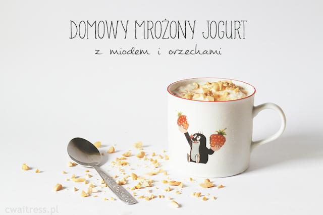 Domowy mrożony jogurt z miodem i orzechami
