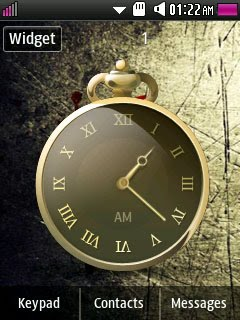 Samsung Corby 2 Widget: Antique Analog Clock | Samsung Corby 2 GT