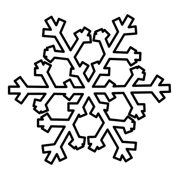 Decorazioni natalizie da colorare - Fiocco di neve da colorare foglio da colorare ...