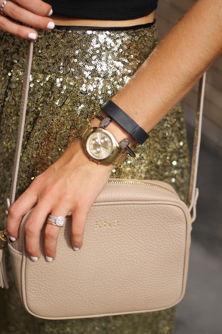 Fitbit Flex with Kendra Scott bracelet and Caravelle NY watch