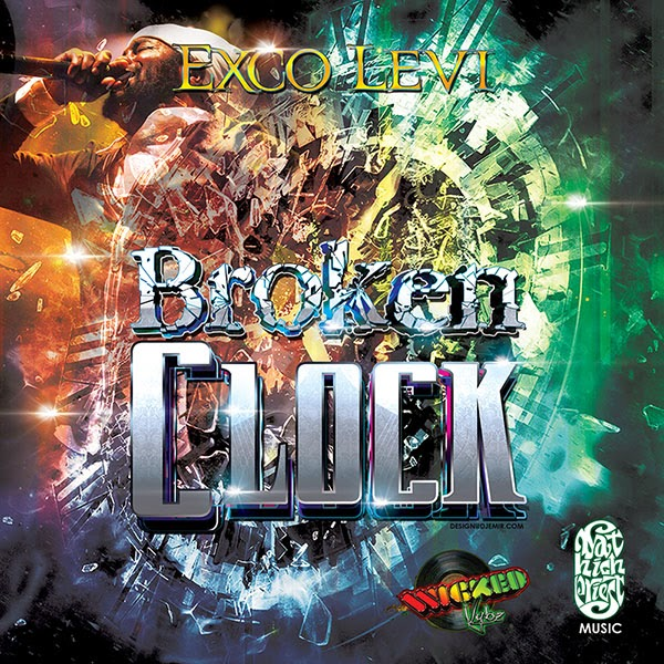 Exco Levi Broken Clock Album Single Cover Design