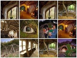 mosaico con diferentes detalles de la casa hobbit de simon dale