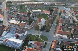 Milovice letecký snímek