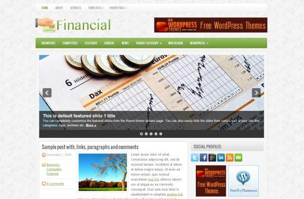Free finance business green wordpress jquery theme free wordpress free financial green business wordpress theme wajeb Gallery