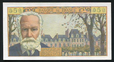 France New Francs Euro Victor Hugo banknote bill
