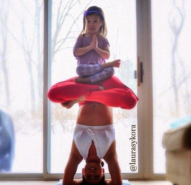 The 30-year-old, Hilaria Baldwin showing off her incredible anatomy into the Instagram account as she stroked a yoga pose by various style in the range of her house at Hampton.