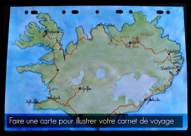 Faire une carte à l'aquarelle pour votre carnet de voyage