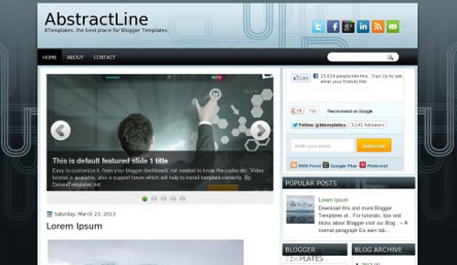 abstractline blogger themes