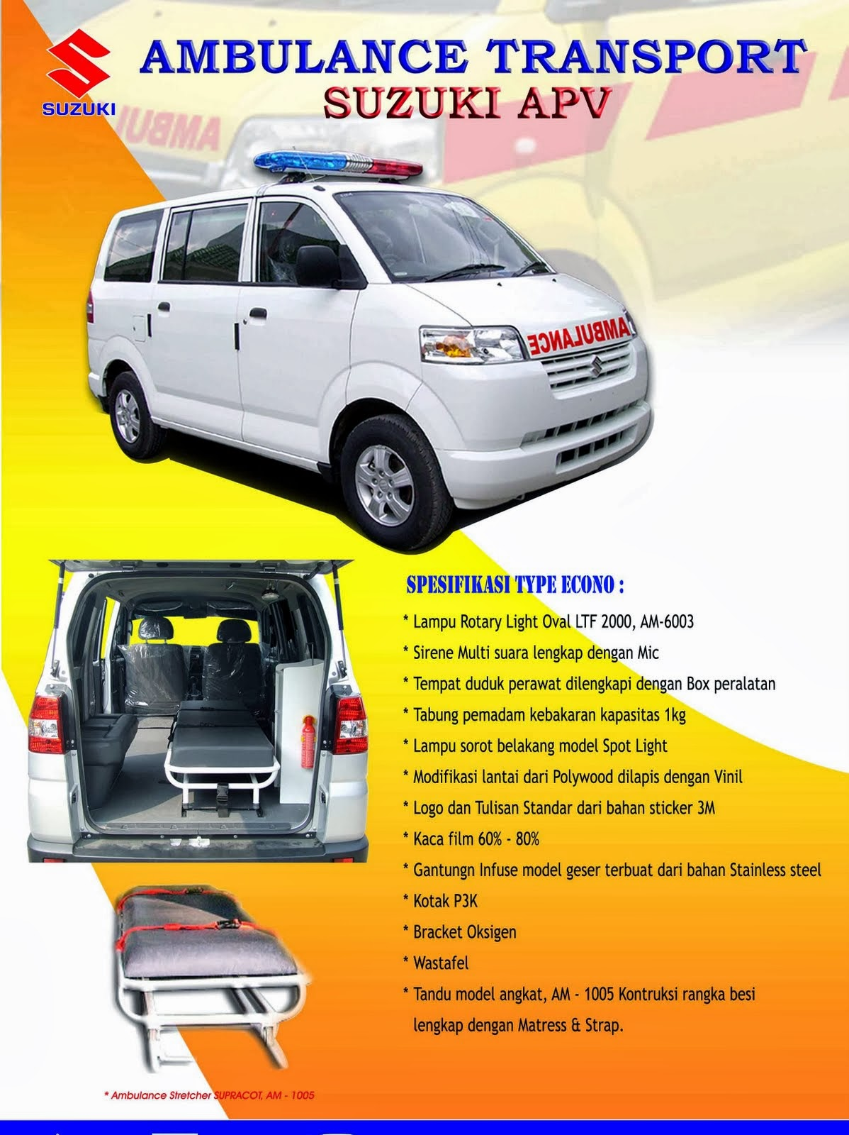 APV Ambulance Spesifikasi Economi 2014