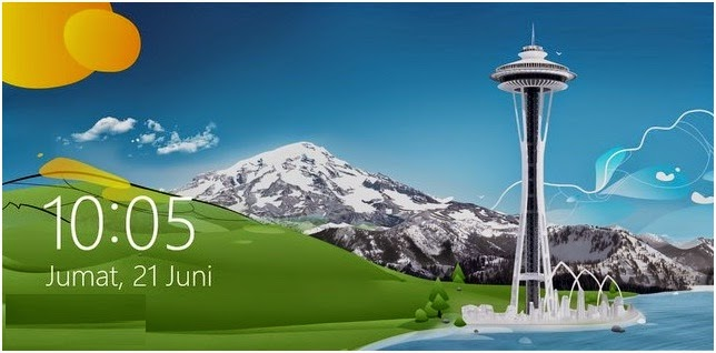 Cara Mengatur Default Background LockScreen di Windows 8