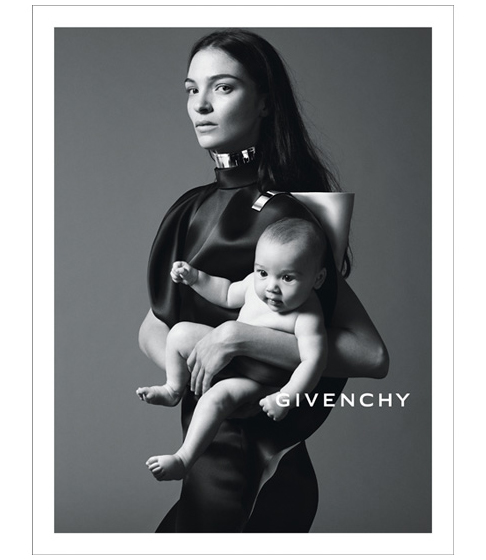 Givenchy 2013 spring campaign with Mariacarla Boscono baby