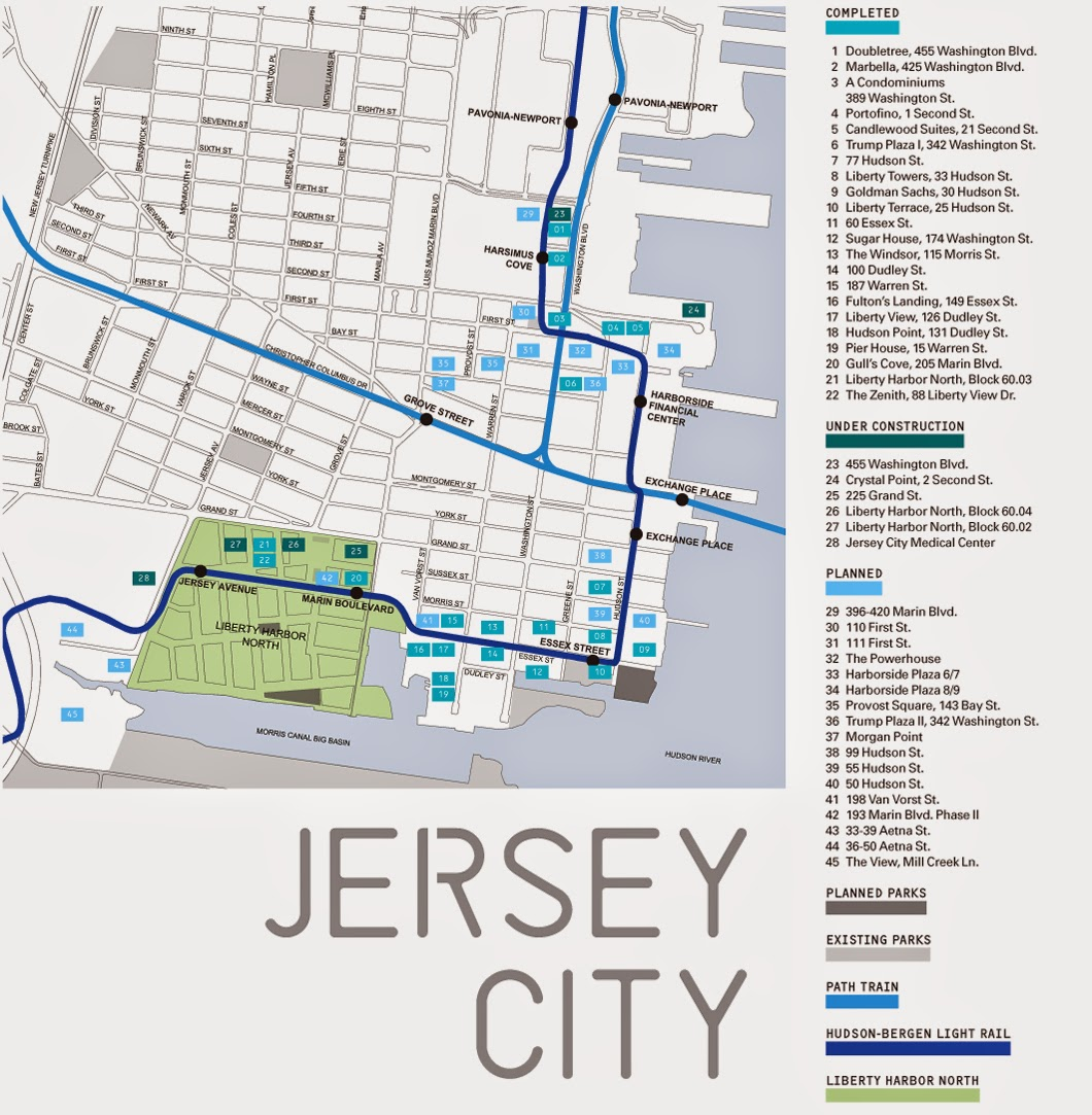 Jersey City downtown map