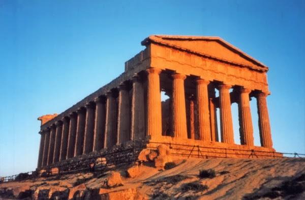 tempio greco vecchio francese vieux âgé ancien antique