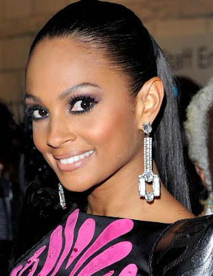 Alesha Dixon Dangling Diamond Earrings