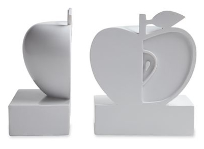 apple bookends by Jonathan Adler