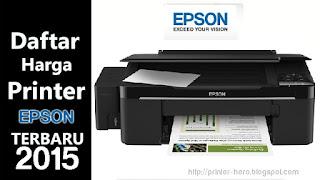 Daftar Harga Printer EPSON Terbaru Agustus 2015
