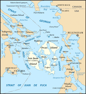 trip to the san juan islands, where they are located