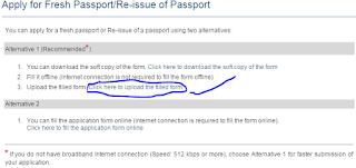 Step 3: apply for Fresh Passport\Re-issue Passport Offline image