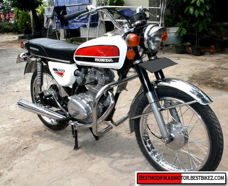 ... gambar modifikasi motor honda cb 100 1975 dengan model klasikan