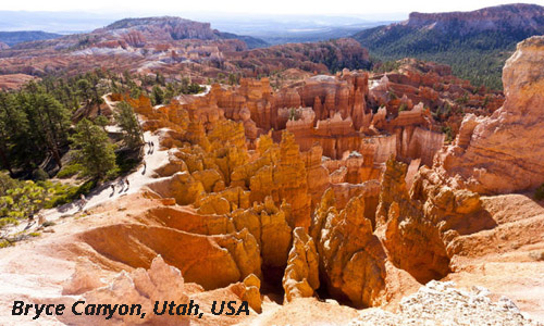 Bryce is distinctive due to geological structures