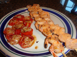 Never trust a skinny cook....: Bangin' Grilled Shrimp Skewers