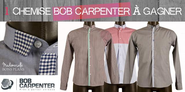Jeu Bob Carpenter et Mademoiselle Bons Plans: 1 chemise homme ou femme à gagner
