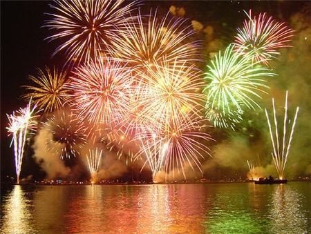 fireworks. Fireworks