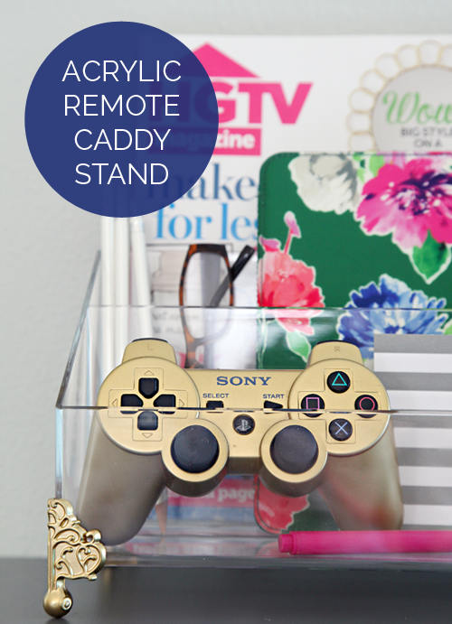 Iheart organizing acrylic remote caddy stand for I heart organizing
