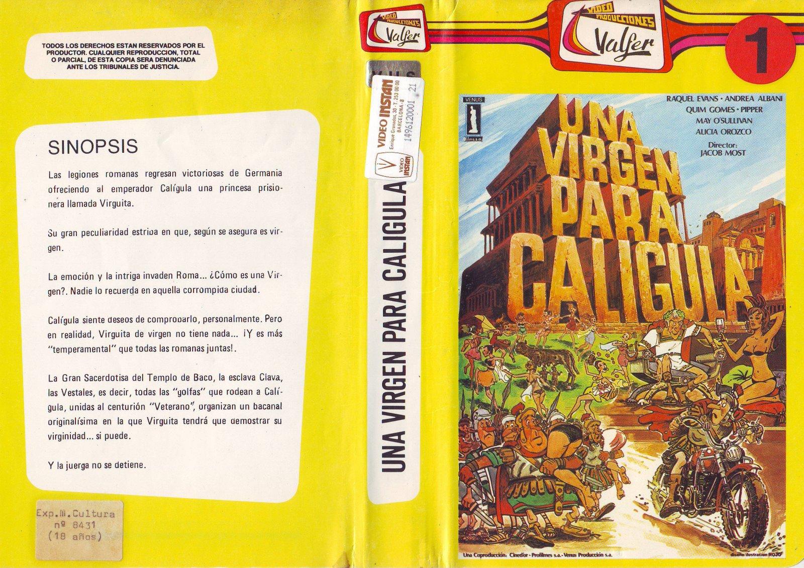 Original Una Virgen Para Caligula Pais Espana Spain Director Jaime J