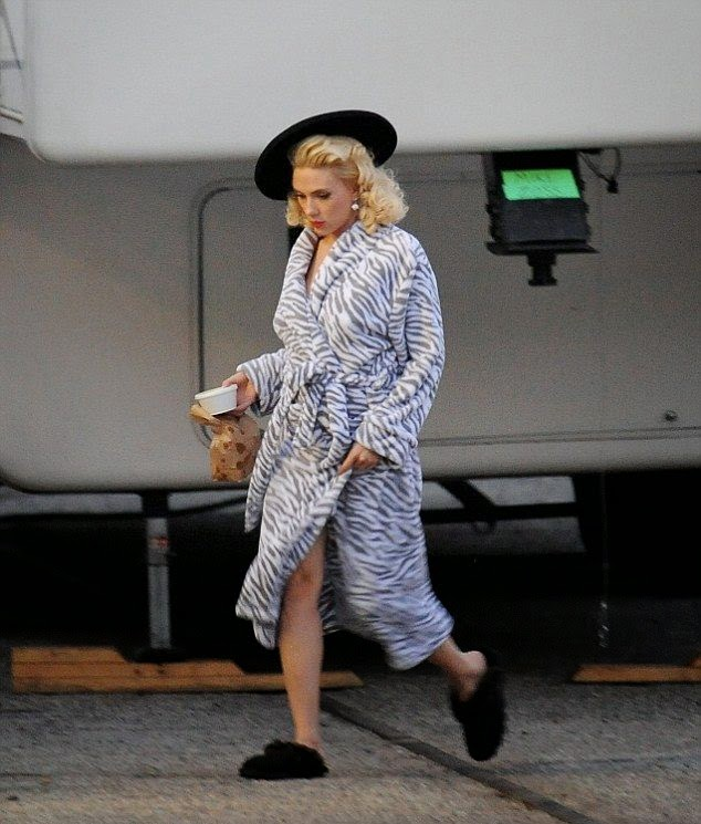 It's always important to dress appropriately for different occasion, and over the years, Scarlet Johansson has proven to be expert at that.  While the design's perfect for the red carpet event, the actress had worn earlier in the daylight as she walked to her new filming job, 'Hail Caesar' at Los Angeles on Friday, January 16, 2015.