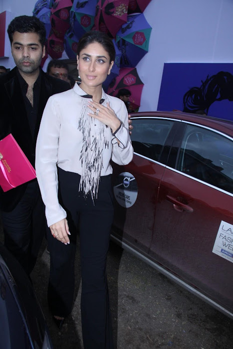 kareena kapoorkaran johar at lfw 2012. photo gallery