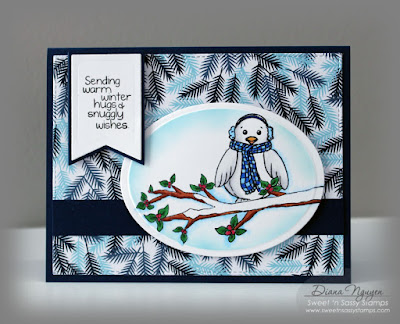 Diana Nguyen, Sweet 'n Sassy stamps, for the birds, winter, card